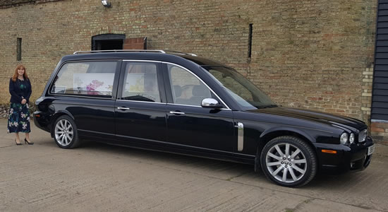 Traditional Black Hearse